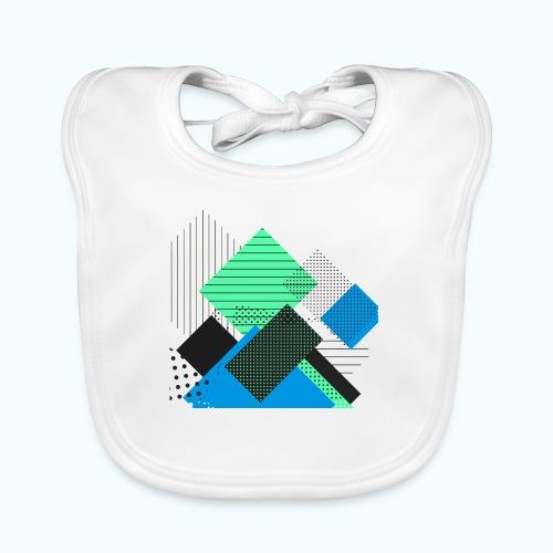 Abstract rectangles pastel - Baby Organic Bib