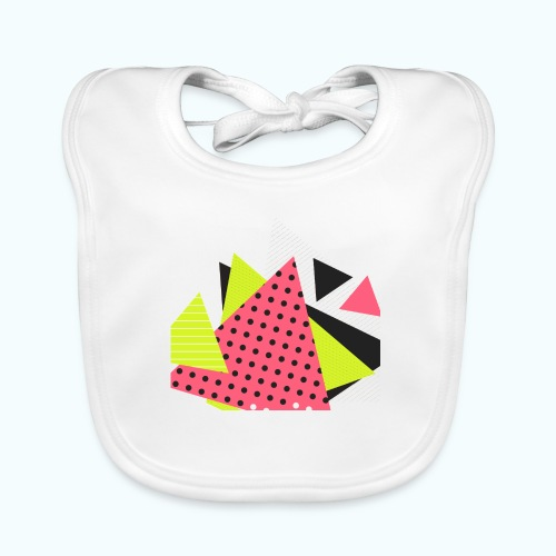 Neon geometry shapes - Baby Organic Bib