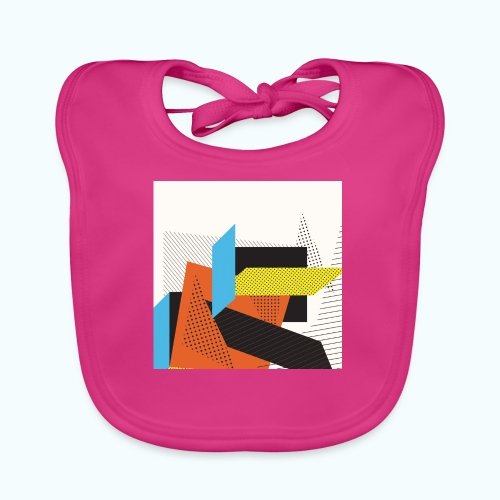 Vintage shapes abstract - Baby Organic Bib