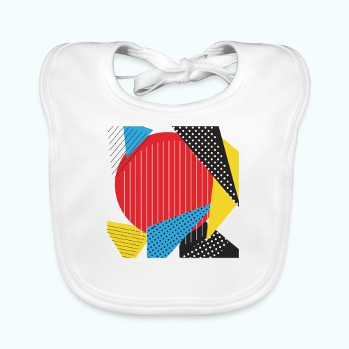 Geometry collage Abstract colors - Baby Organic Bib