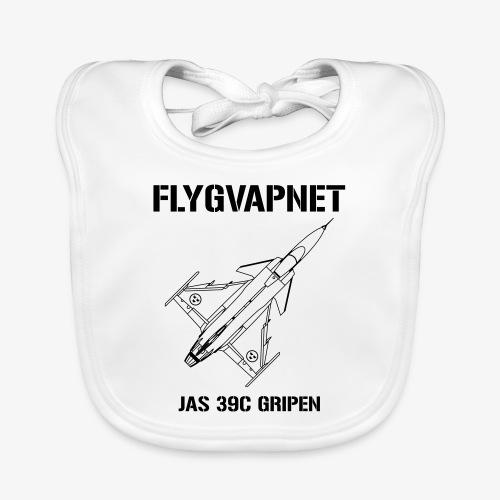 FLYGVAPNET - JAS 39C - Ekologisk babyhaklapp