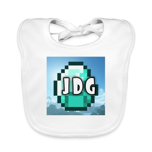 Oranje T-shirt met logo JoramDijkGames - Bio-slabbetje voor baby's