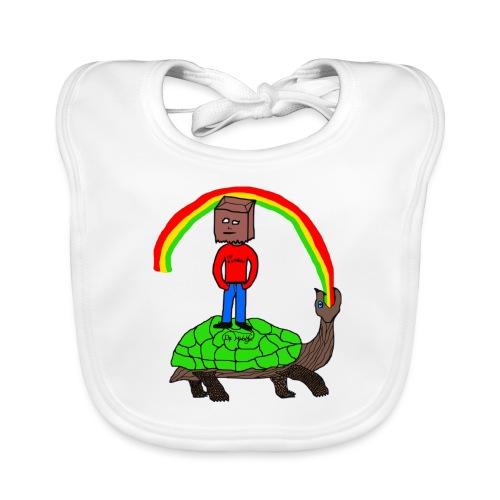 schildkröte Schildkröte Regenbogen - Baby Bio-Lätzchen