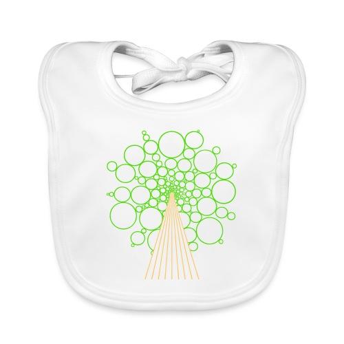 Kugelbaum, hellgrün - Baby Bio-Lätzchen