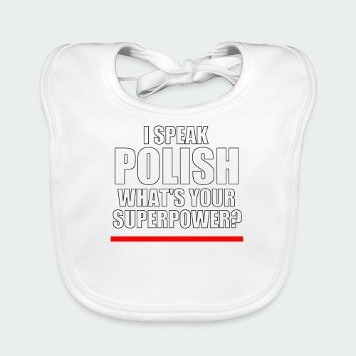Męska Koszulka Premium I SPEAK POLISH - Ekologiczny śliniaczek