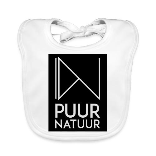 Logo puur natuur negatief - Bio-slabbetje voor baby's