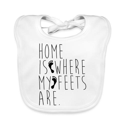 Home is where my feets are - Bavaglino ecologico per neonato