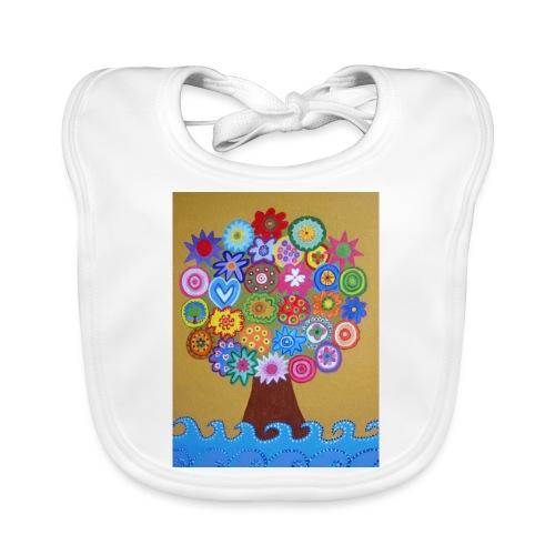 arbol de la vida - Babero de algodón orgánico para bebés