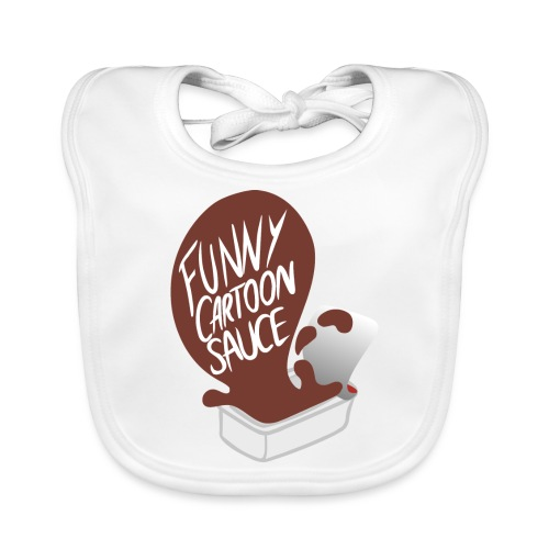 FUNNY CARTOON SAUCE - FEMALE - Organic Baby Bibs