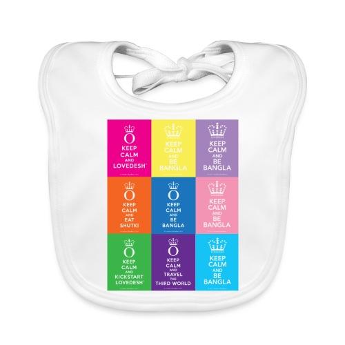 Lovedesh Art: Keep Calm And Lovedesh - Baby Organic Bib