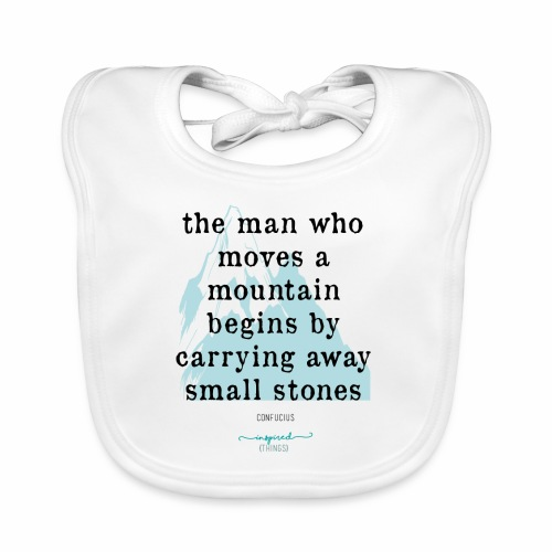 Confucius` Quote - The man who moves a mountain - Baby Organic Bib