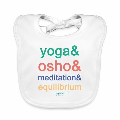 Yoga& Osho& Meditation& Equilibrium - Baby Organic Bib