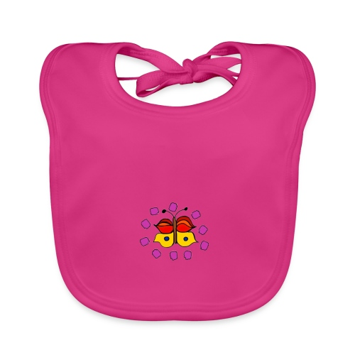 Butterfly colorful - Baby Organic Bib