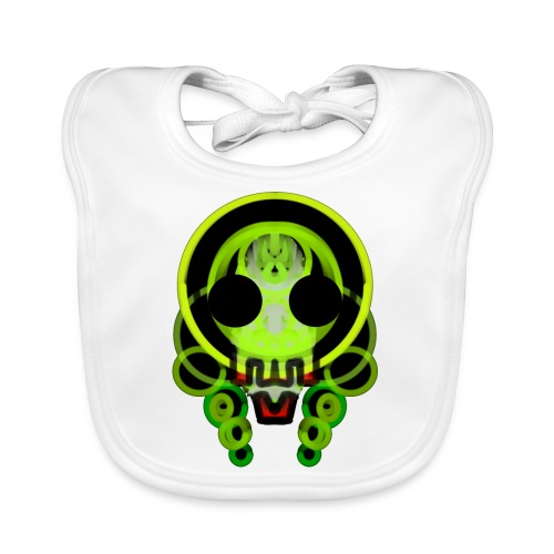 dead skull of loops of green light - Baby Organic Bib