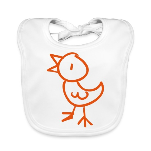 Chick Line Drawing Pixellamb - Baby Bio-Lätzchen