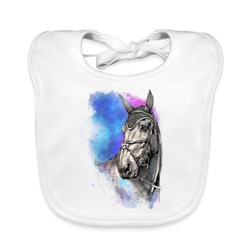 KOŃ GŁOWA akwarela z koniem horseTSHIRT - Ekologiczny śliniaczek