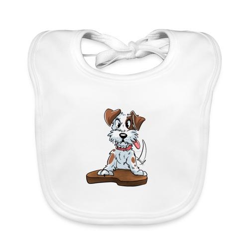 Jack Russell Terrier baby kleding. - Bio-slabbetje voor baby's