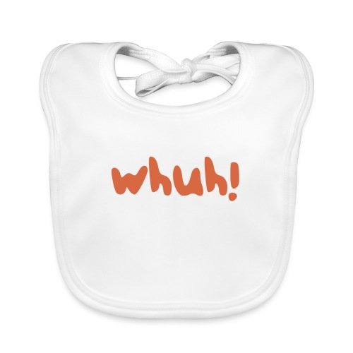 Whuh! Orange by Dougsteins - Organic Baby Bibs