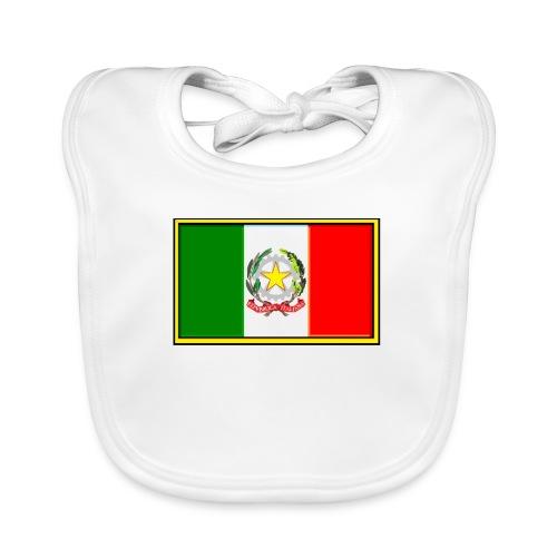 Bandiera Italiana - Bavaglino ecologico per neonato