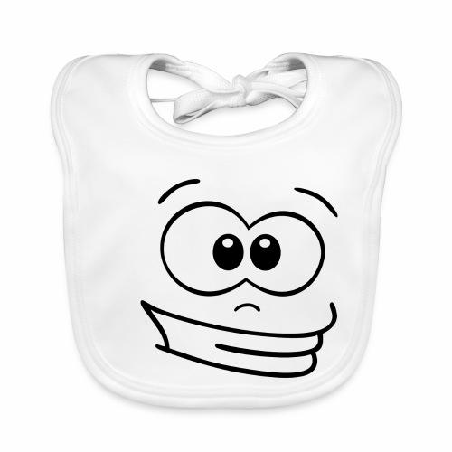 Gesicht grinsen - Baby Bio-Lätzchen