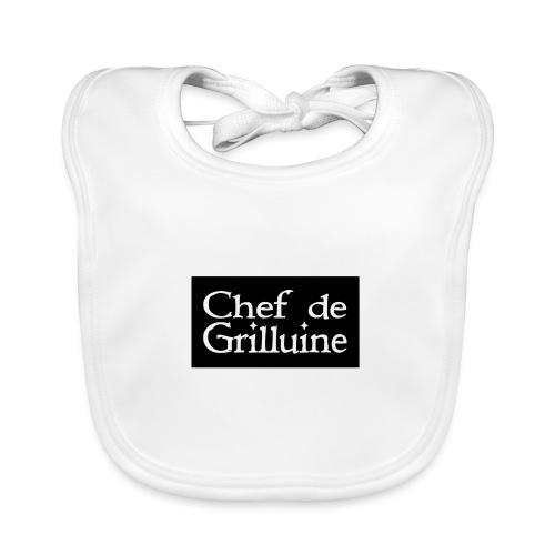 Chef de Grilluine - der Chef am Grill - Baby Bio-Lätzchen