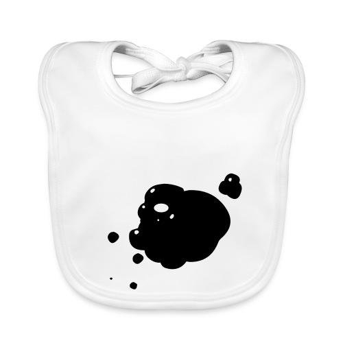 vlek inkt zwart - Bio-slabbetje voor baby's