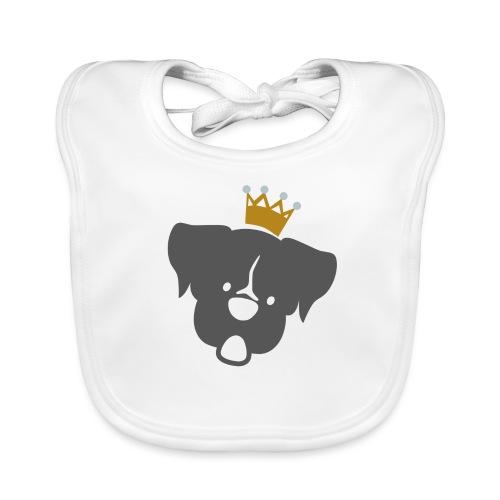 Prinz Poldi grau - Baby Bio-Lätzchen