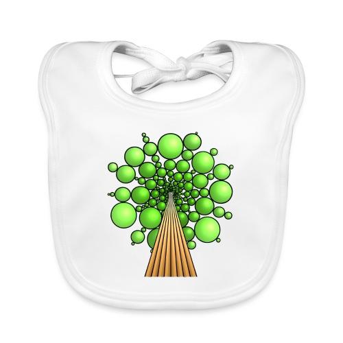 Kugel-Baum, 3d, hellgrün - Baby Bio-Lätzchen