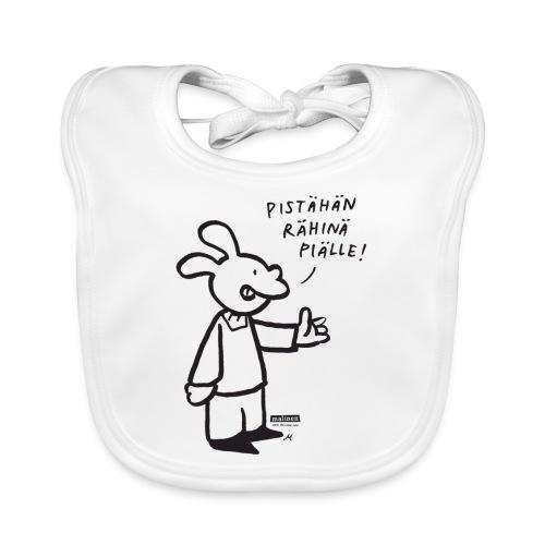 malinenrahina - Vauvan luomuruokalappu
