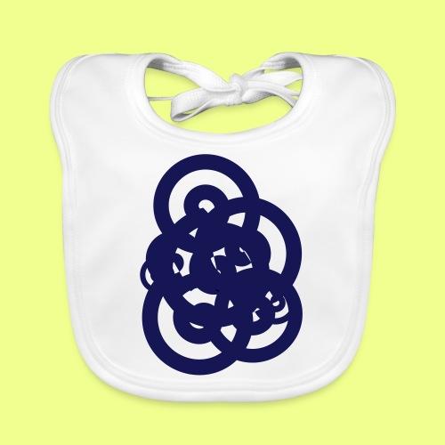 espirales azul - Babero de algodón orgánico para bebés