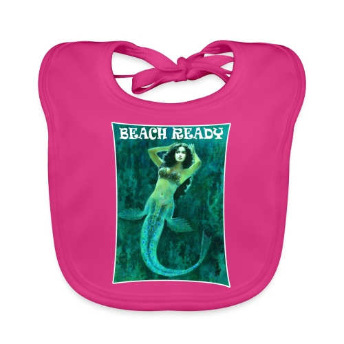 Vintage Pin-up Beach Ready Mermaid - Baby Organic Bib