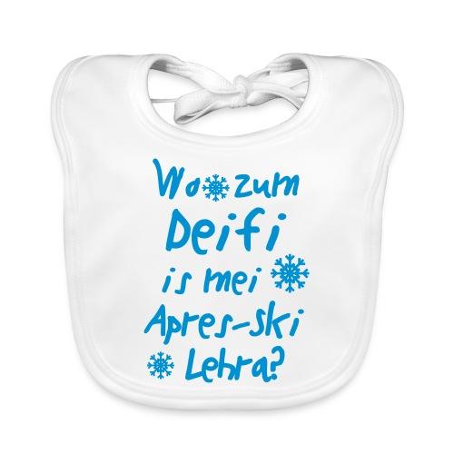 Wintershirt Wo zum Deifi is mei ApresSki Lehra? - Baby Bio-Lätzchen