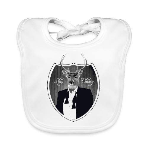 Deer in tuxedo - Baby Organic Bib