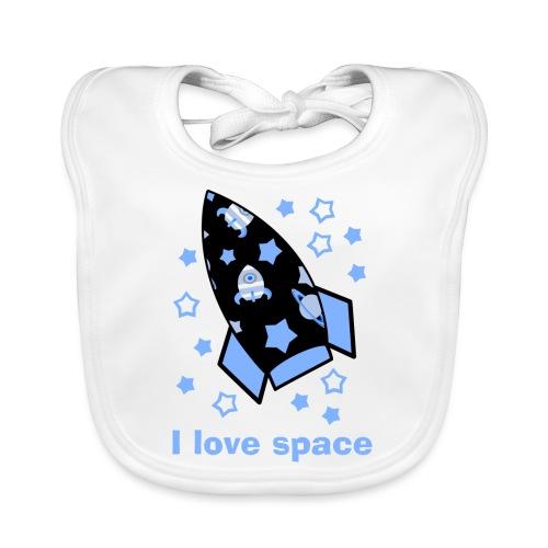 I love space - Bavaglino ecologico per neonato