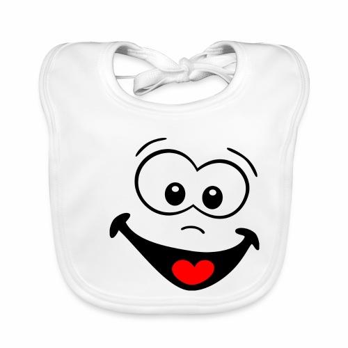 Gesicht lachen - Baby Bio-Lätzchen