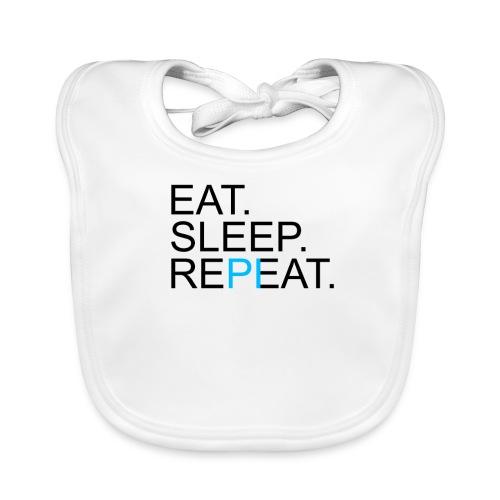 Eat Sleep Repeat PI Mathe Hell - Baby Bio-Lätzchen