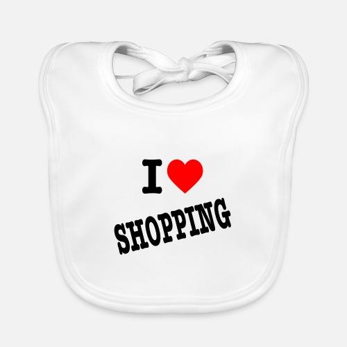 I Love Shopping (Ik Hou van Winkelen) - Bio-slabbetje voor baby's