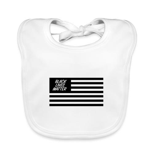 BLACK LIVES MATTER Flag EEUU - Babero ecológico bebé