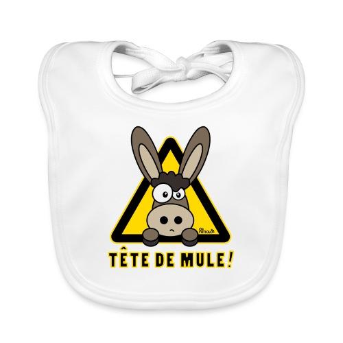 Âne, Tête de mule, tetu - Bavoir bio Bébé