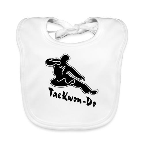 Taekwondo flying kicking man - Baby Organic Bib