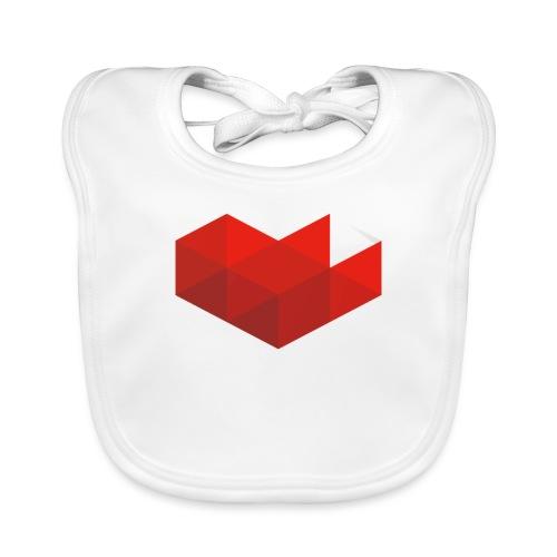 MrKinToast Heart Logo - Baby Organic Bib