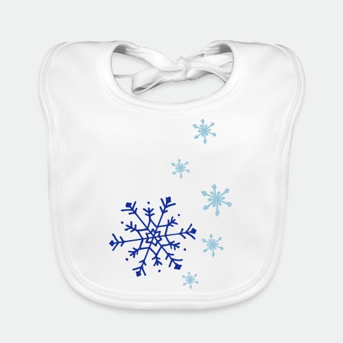 Snowflakes falling - Organic Baby Bibs