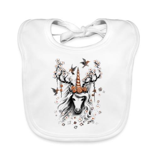 Deer Unicorn Flowers - Baby Organic Bib