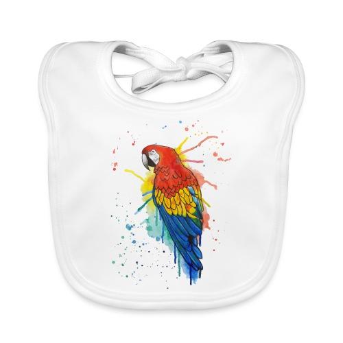 Parrot Watercolors Nadia Luongo - Bavaglino ecologico per neonato