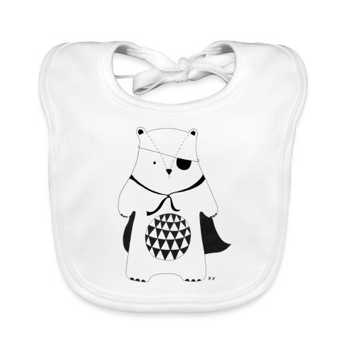 stoere beer - Bio-slabbetje voor baby's