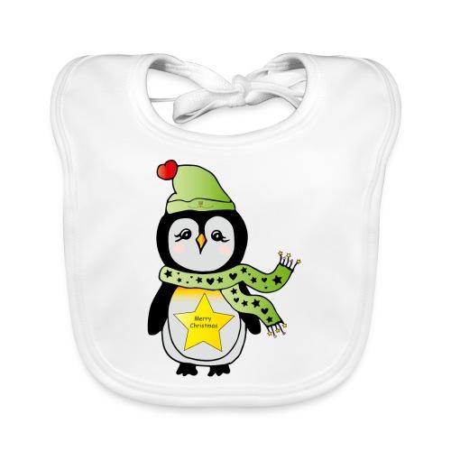 Christmas Pinguin - Baby Bio-Lätzchen
