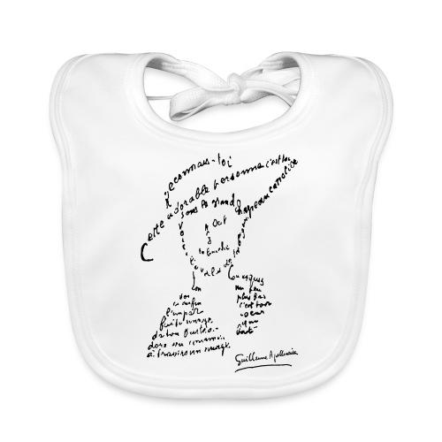 calligramme - Lou au chapeau - Bavoir bio Bébé