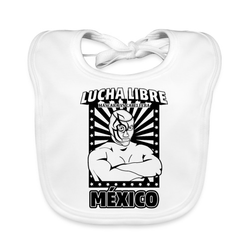 Lucha Libre Mexico Negro - Babero ecológico bebé