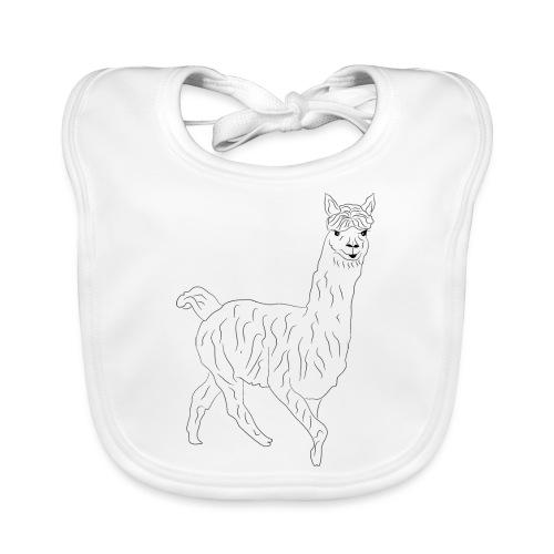 Alpaka Lama Shirt Geschenk - Baby Bio-Lätzchen