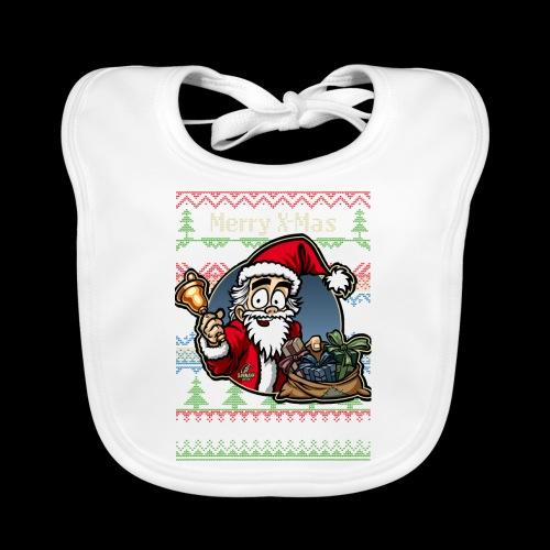 Merry X-Mas Weihnachtsmann - Baby Bio-Lätzchen